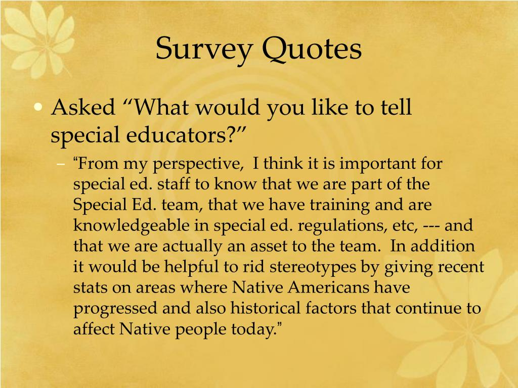 Survey Quotes