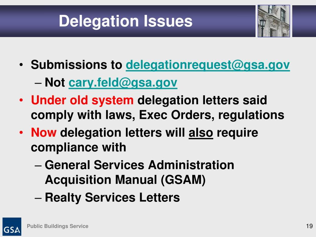 Delegation Issues