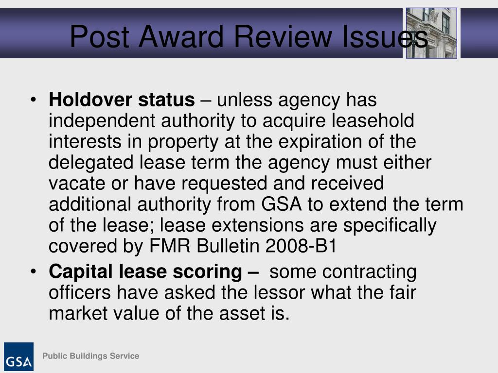 Post Award Review Issues