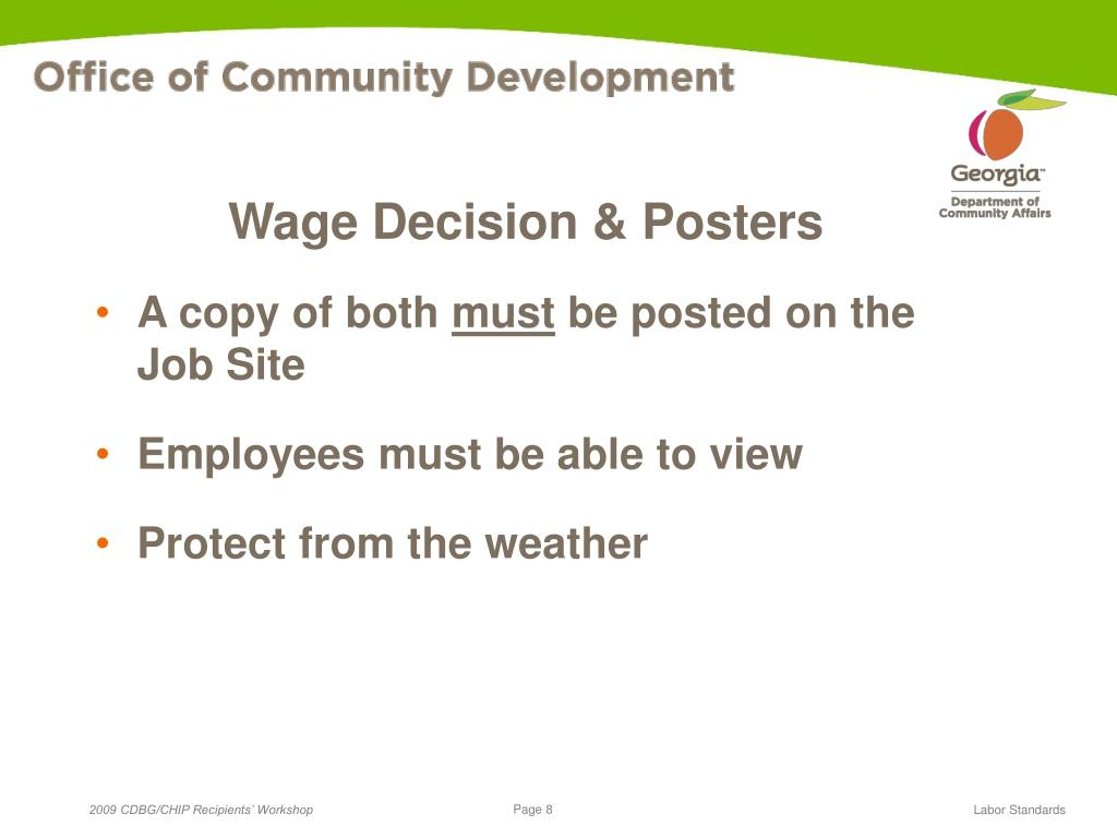 Wage Decision & Posters