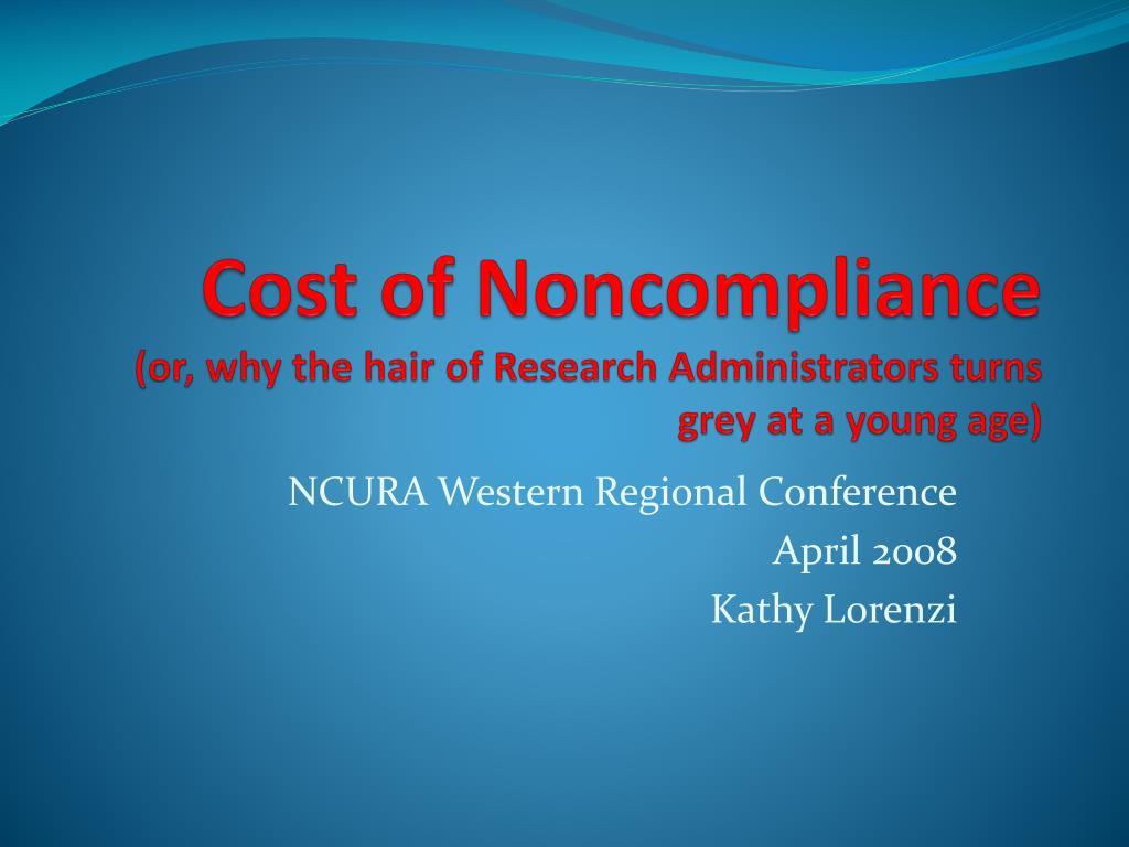 Cost of Noncompliance