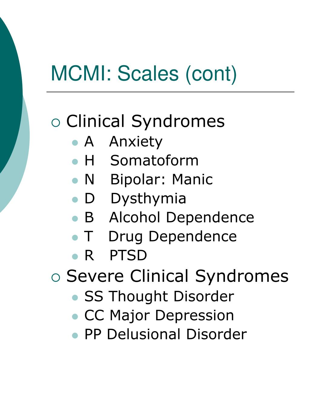 the millon clinical multiaxial inventory iii essay The millon clinical multiaxial inventory, 3rd edition (mcmi-iii) is an update of the mcmi-ii which represents ongoing research, conceptual developments, and the changes in the dsm-iv.