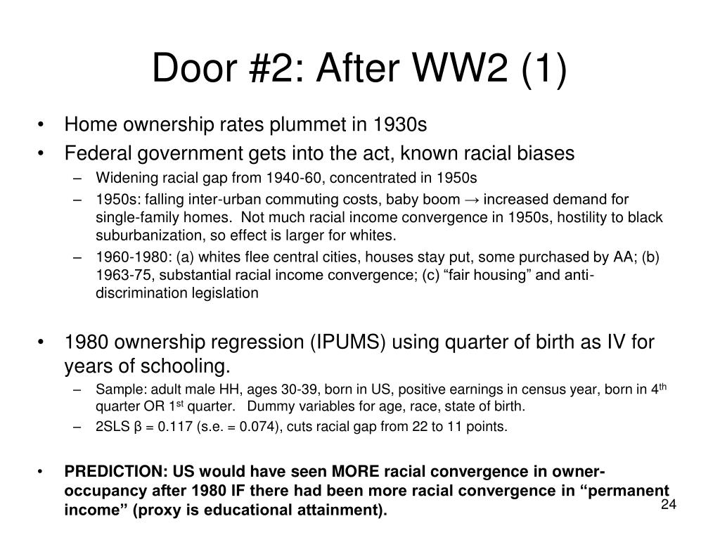 Door #2: After WW2 (1)