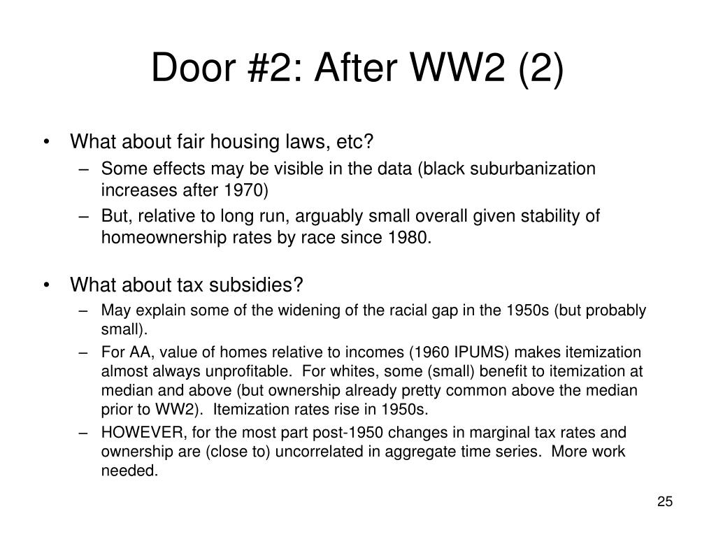 Door #2: After WW2 (2)