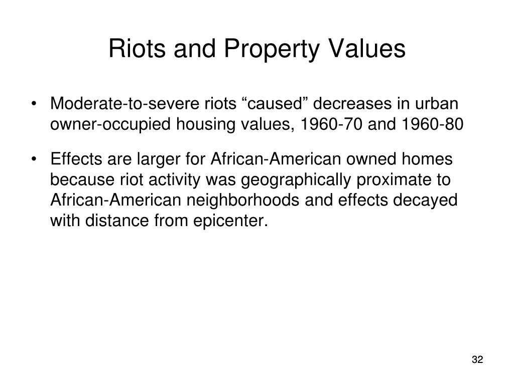 Riots and Property Values