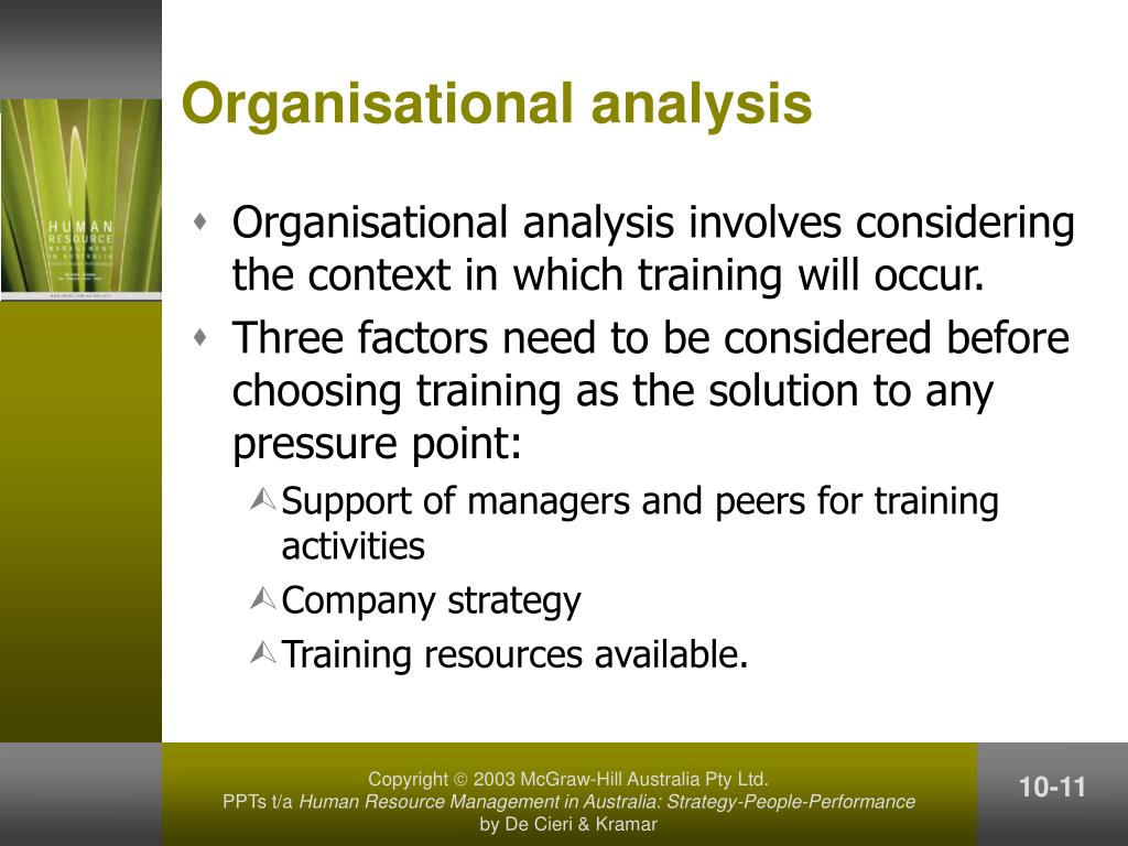 Organisational analysis