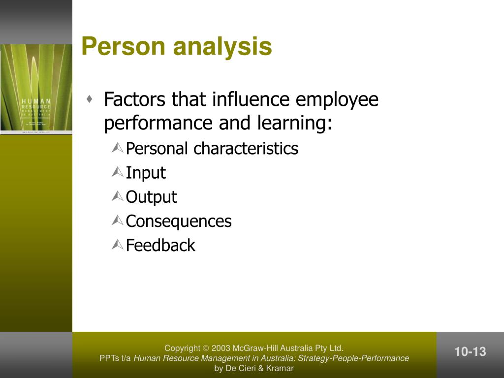 Person analysis