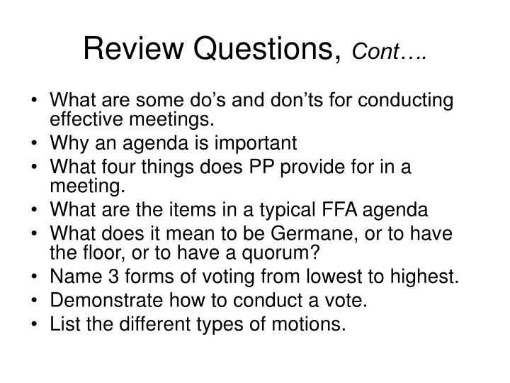 Review Questions,