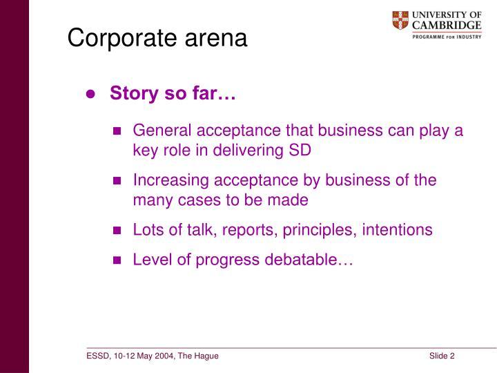 Corporate arena