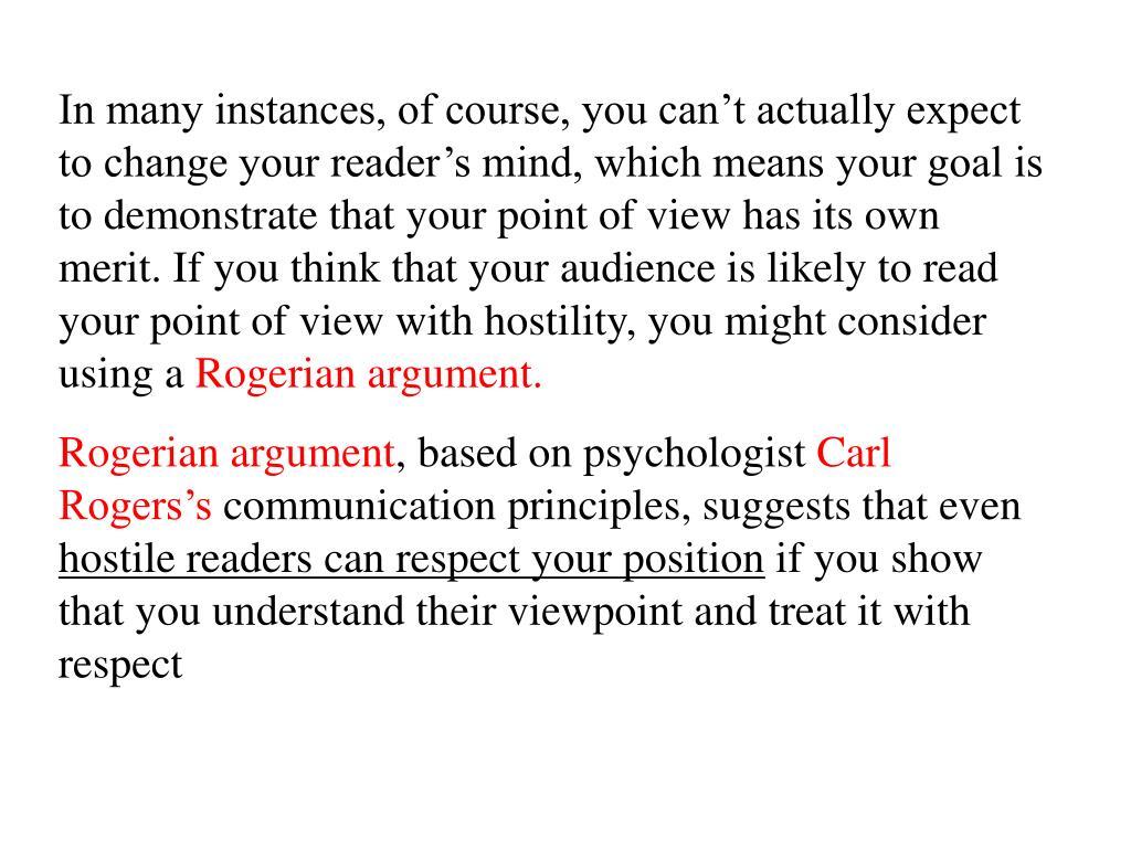 rogerian argument essay powerpoint