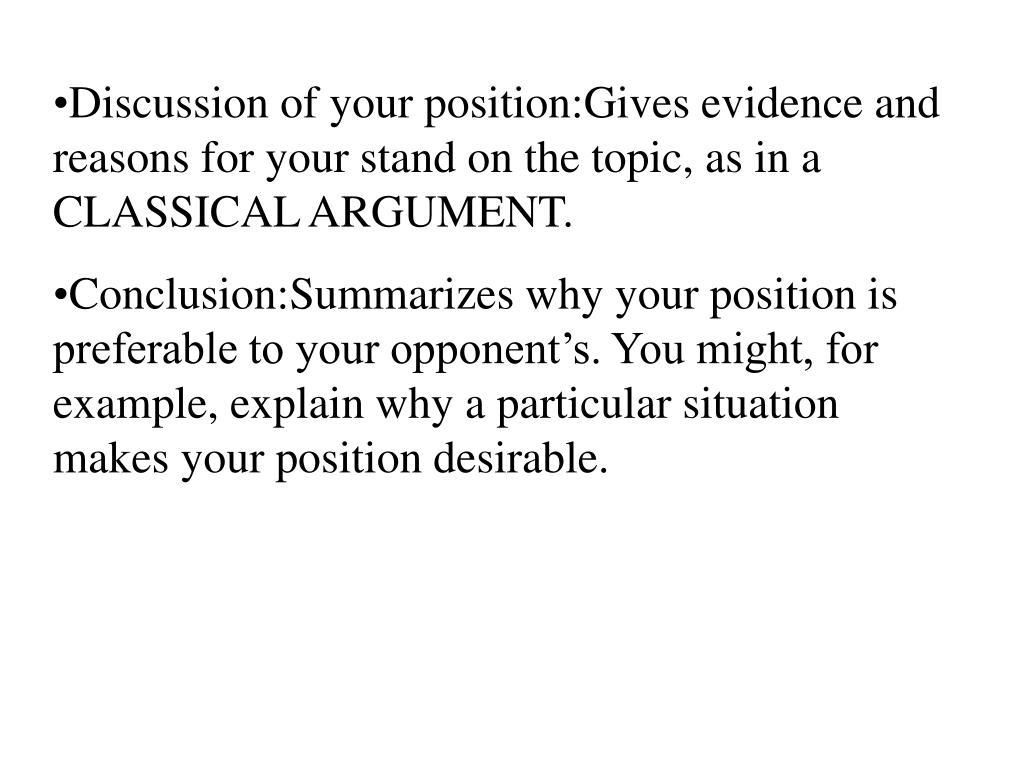 Classical Argument Essay Topics good argumentative essay topics ...