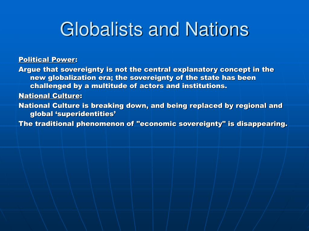 Globalists and Nations