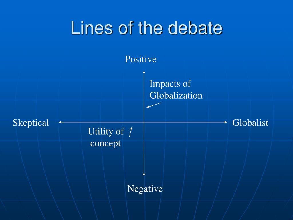 Lines of the debate