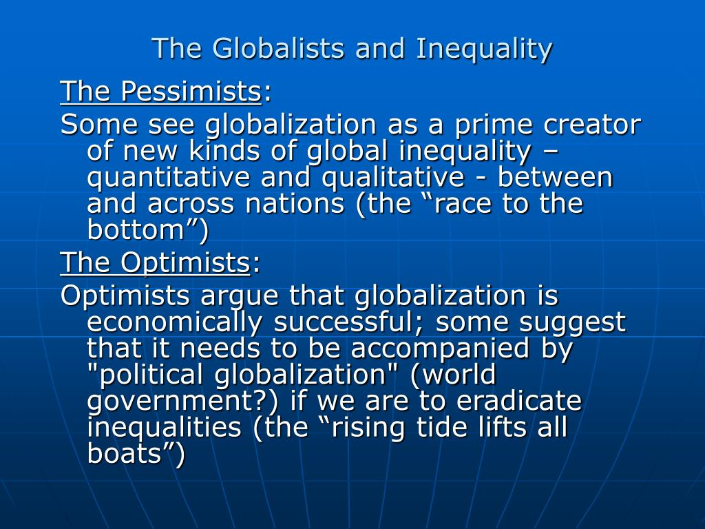 The Globalists and Inequality