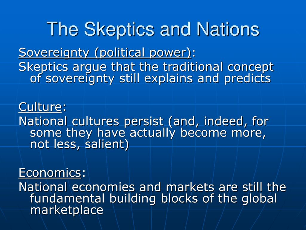 The Skeptics and Nations