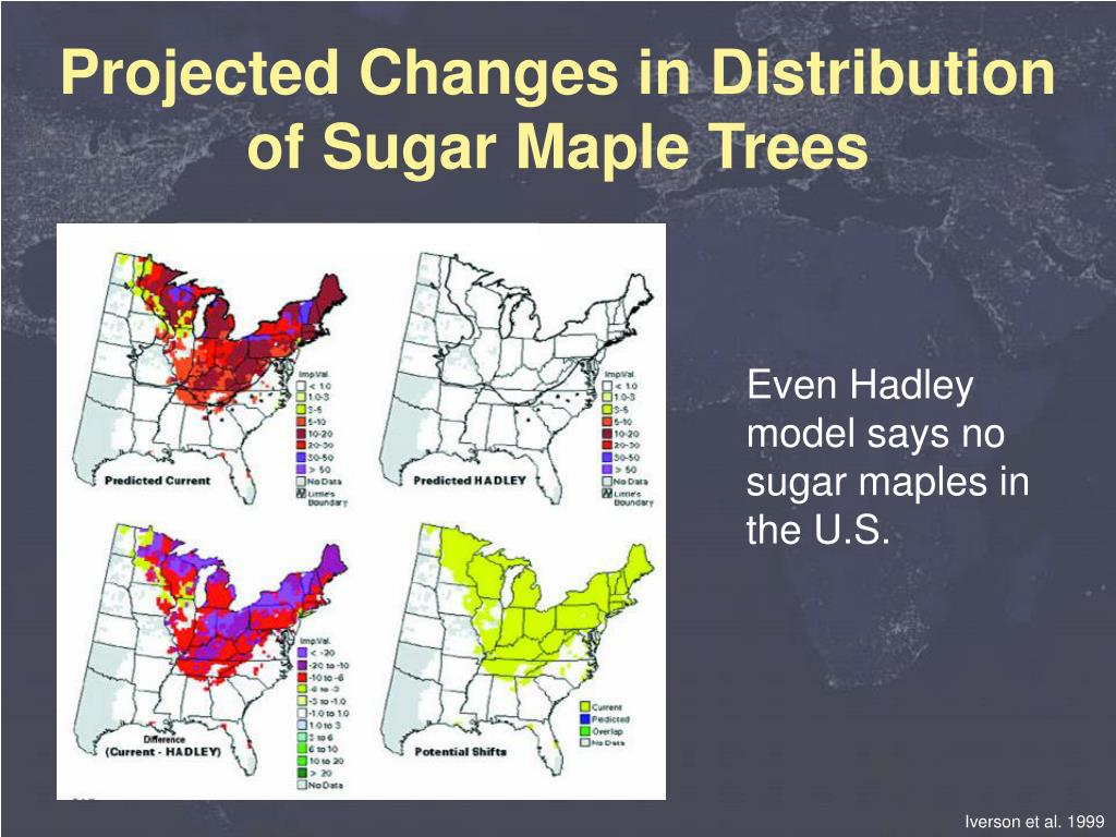 Projected Changes in Distribution