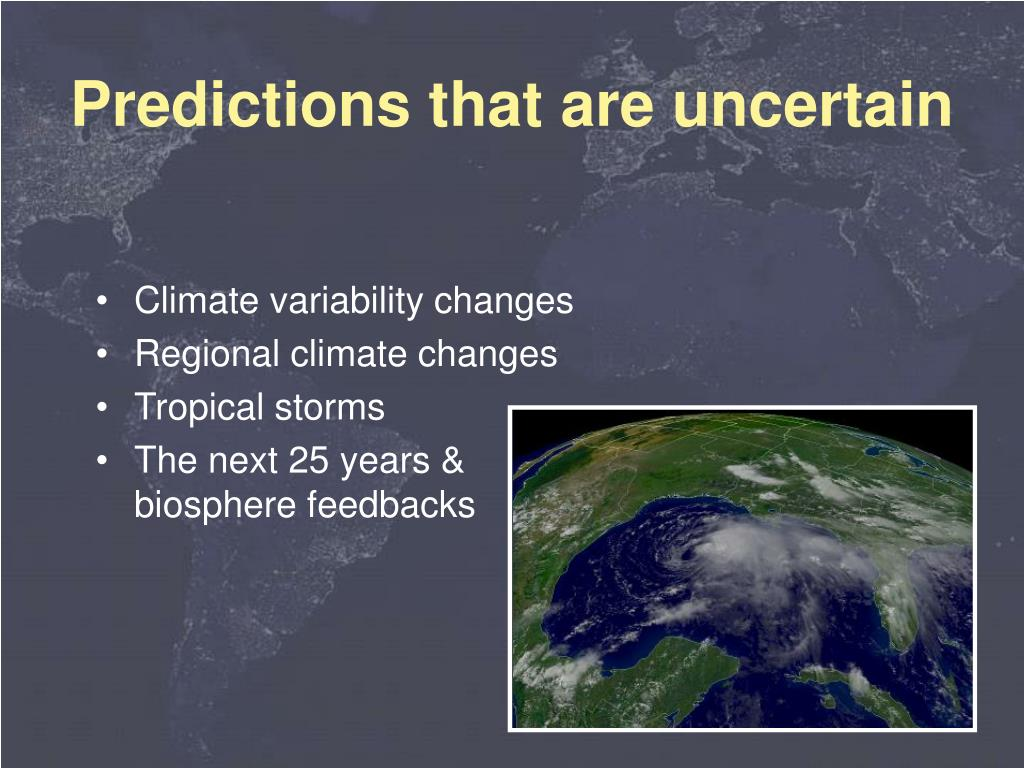 Climate variability changes