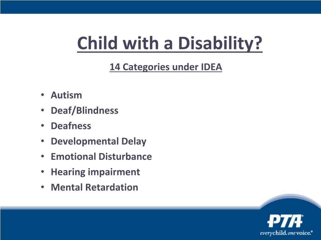 Child with a Disability?