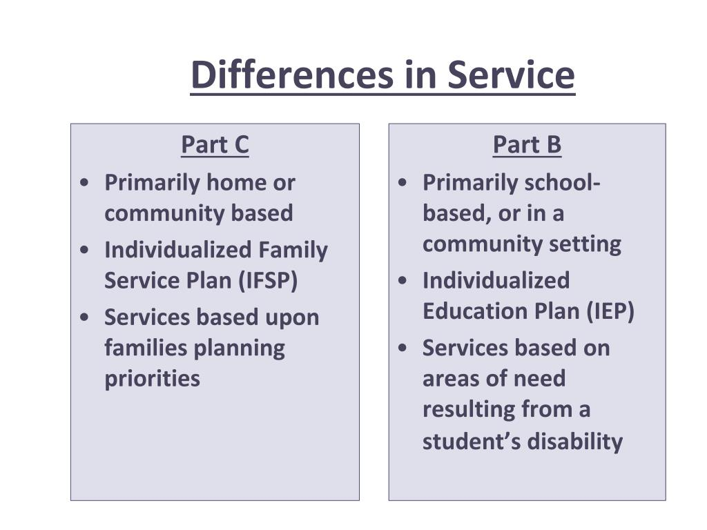 Differences in Service