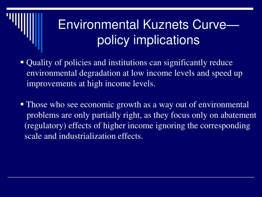 Environmental Kuznets Curve—policy implications