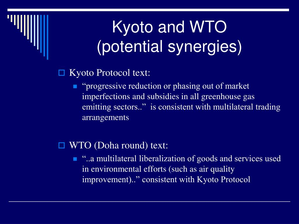 Kyoto and WTO