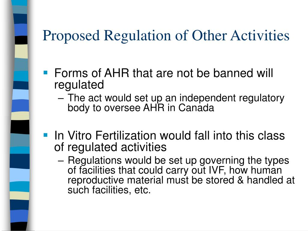 Proposed Regulation of Other Activities