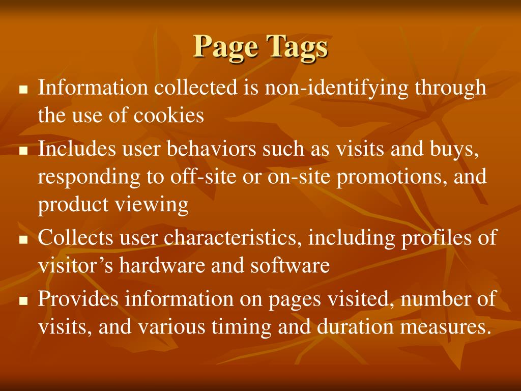 Page Tags