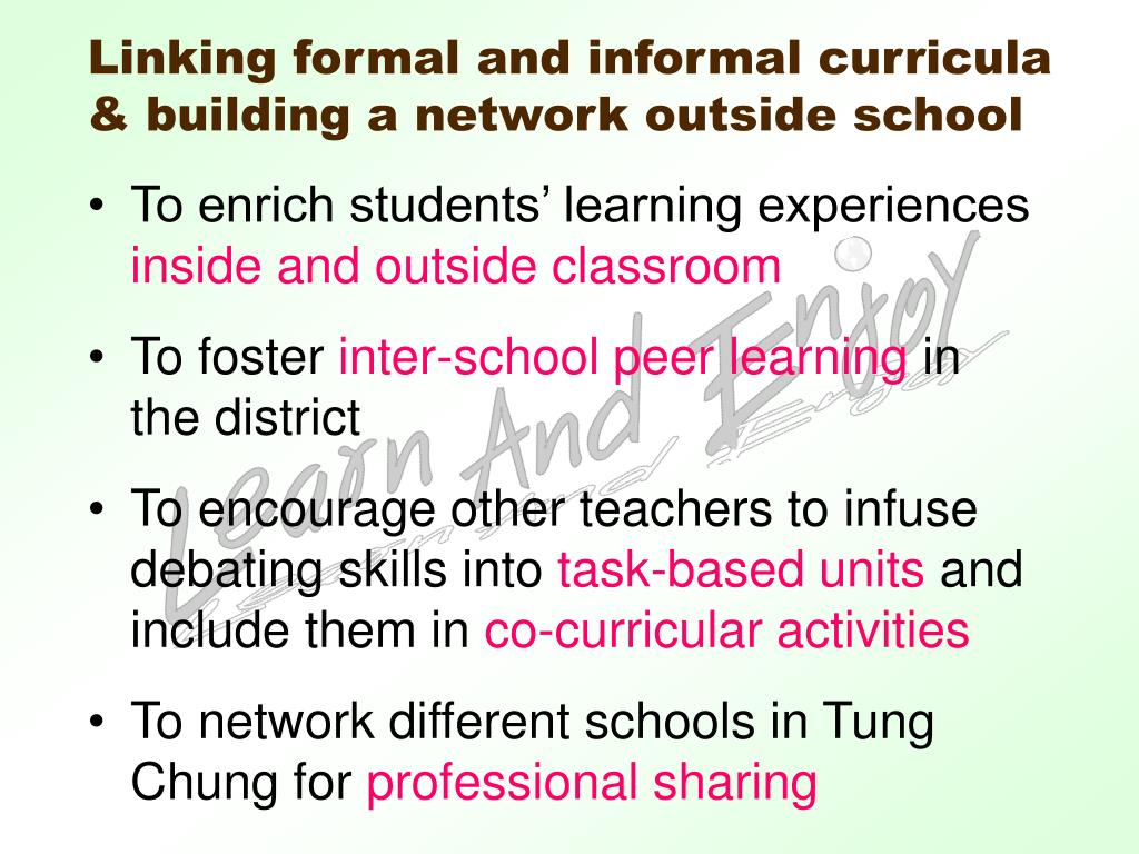 To enrich students' learning experiences