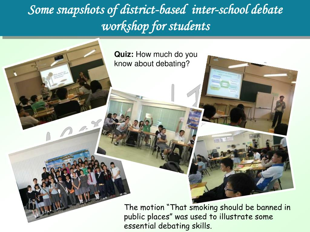 Some snapshots of district-based  inter-school debate workshop for students
