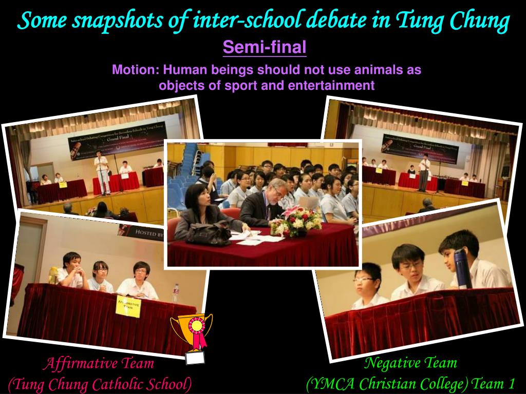 Some snapshots of inter-school debate in Tung Chung
