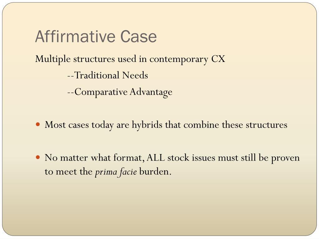 Affirmative Case