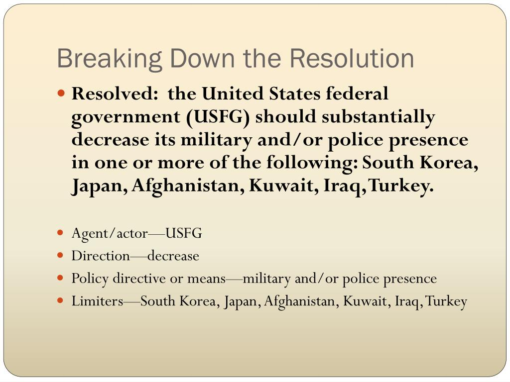 Breaking Down the Resolution