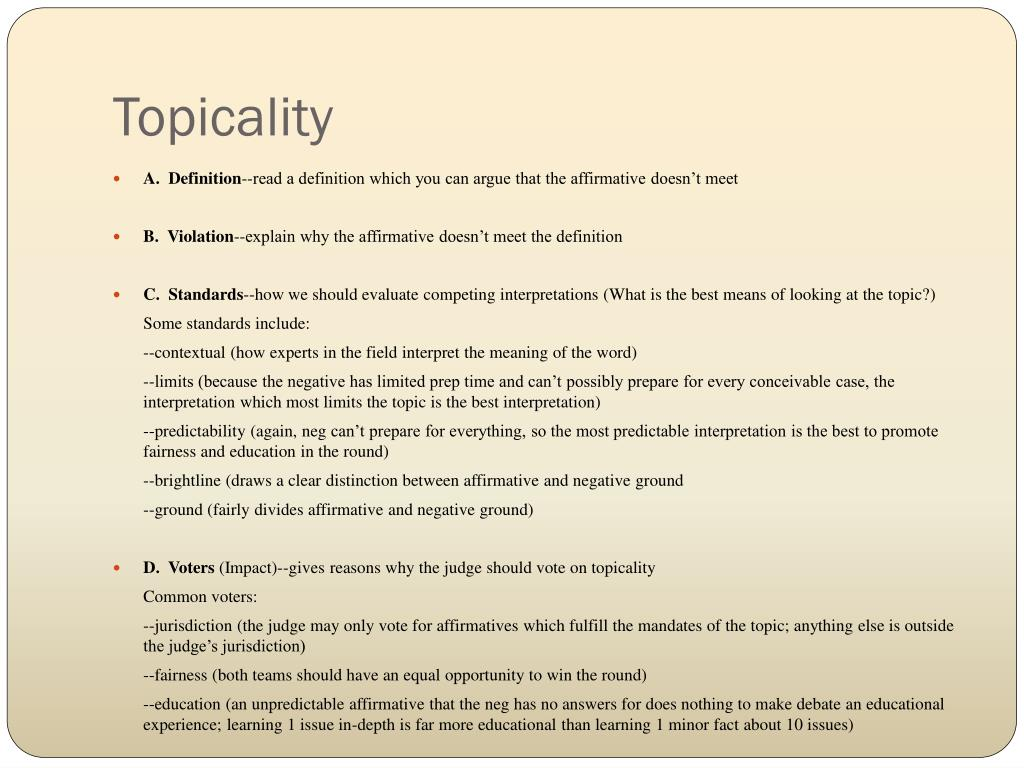 Topicality