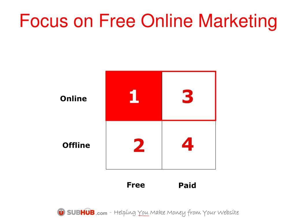 Focus on Free Online Marketing