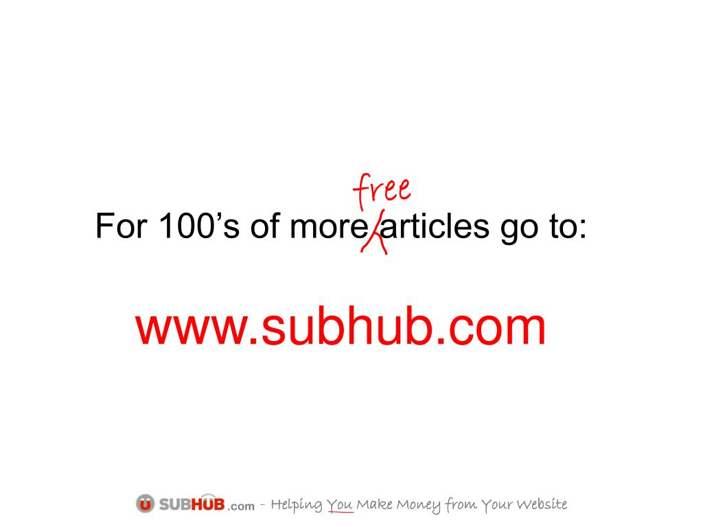For 100's of more articles go to: