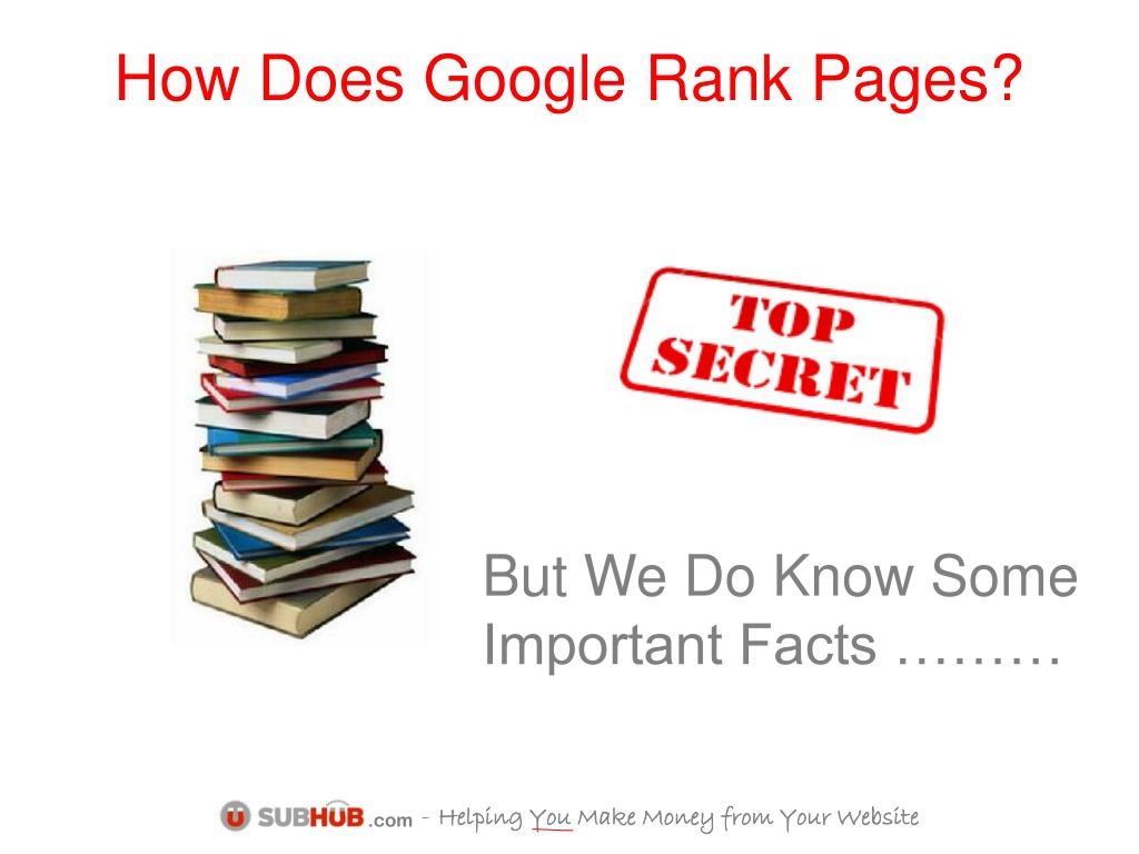 How Does Google Rank Pages?