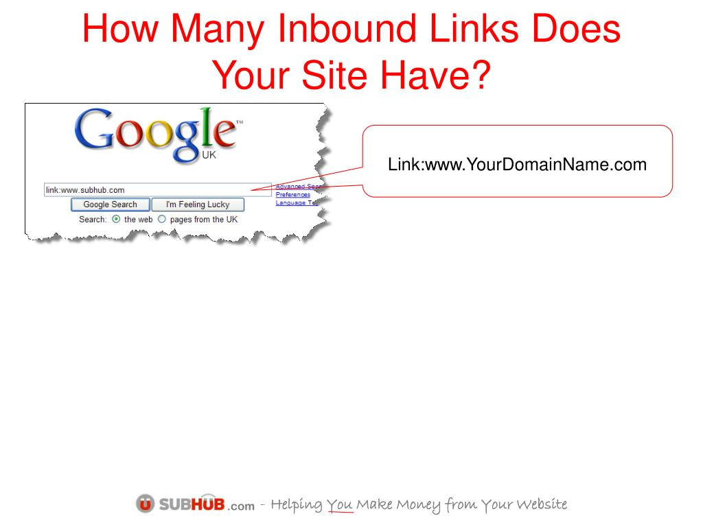How Many Inbound Links Does Your Site Have?