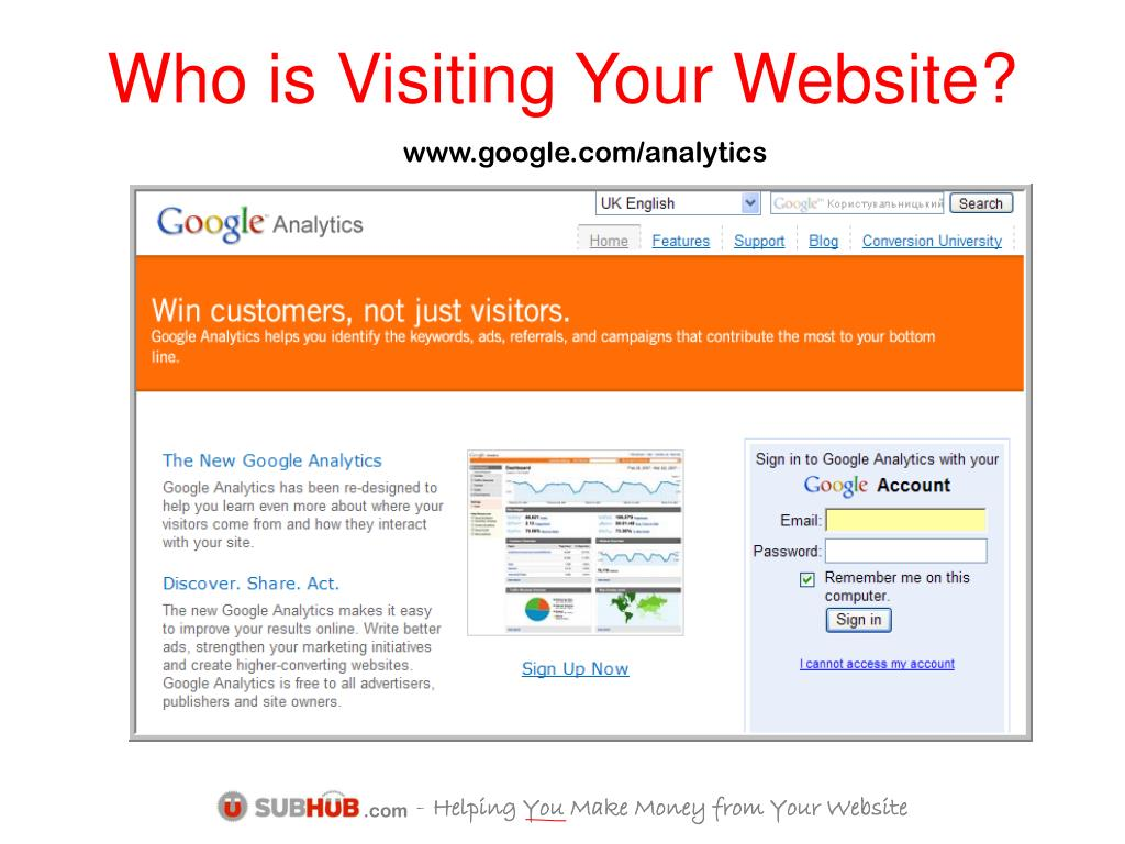 Who is Visiting Your Website?