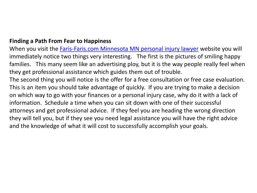 Finding a Path From Fear to Happiness
