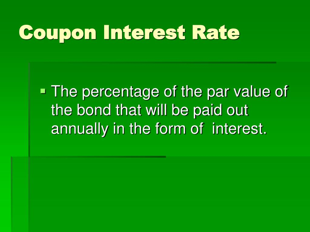Coupon Interest Rate
