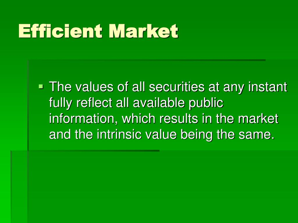 Efficient Market
