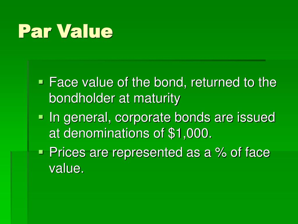 Par Value