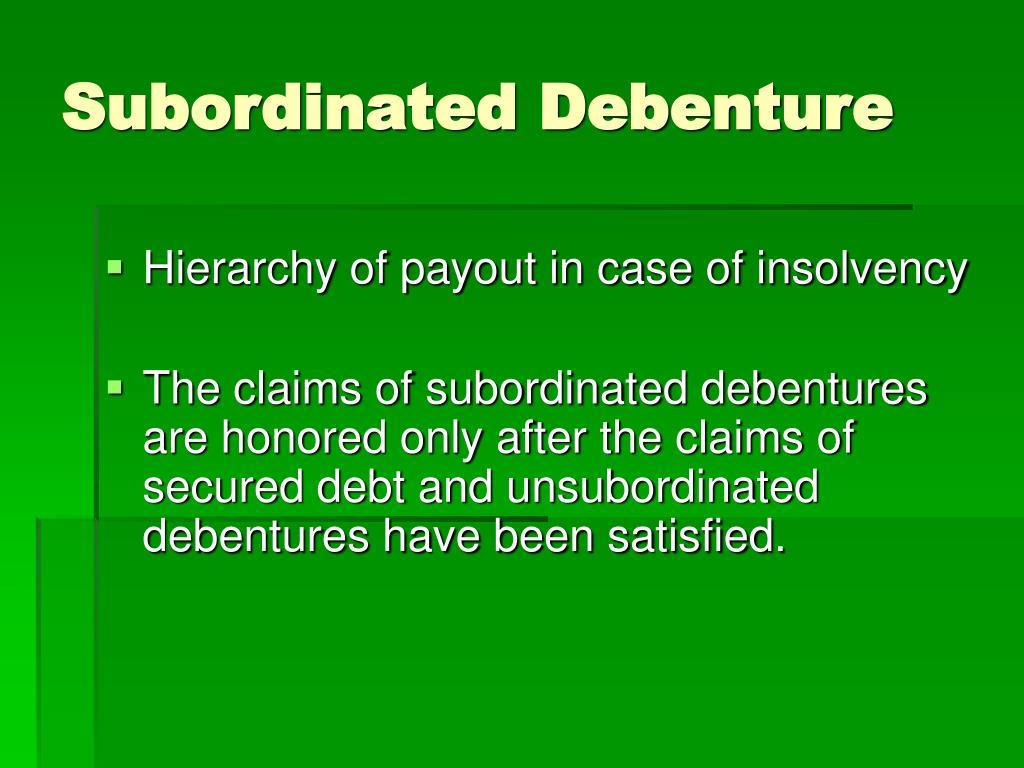 Subordinated Debenture