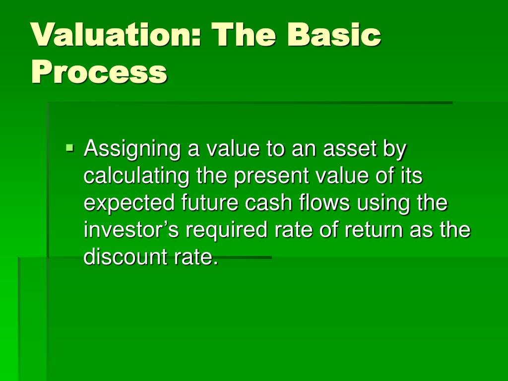 Valuation: The Basic Process