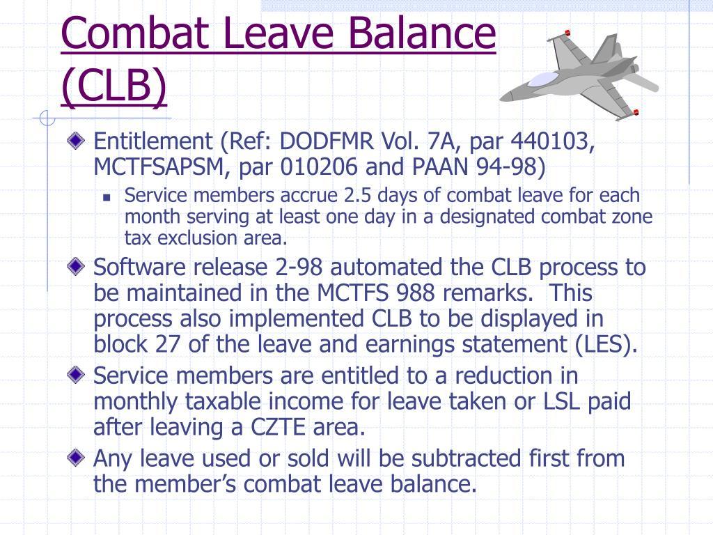 Combat Leave Balance