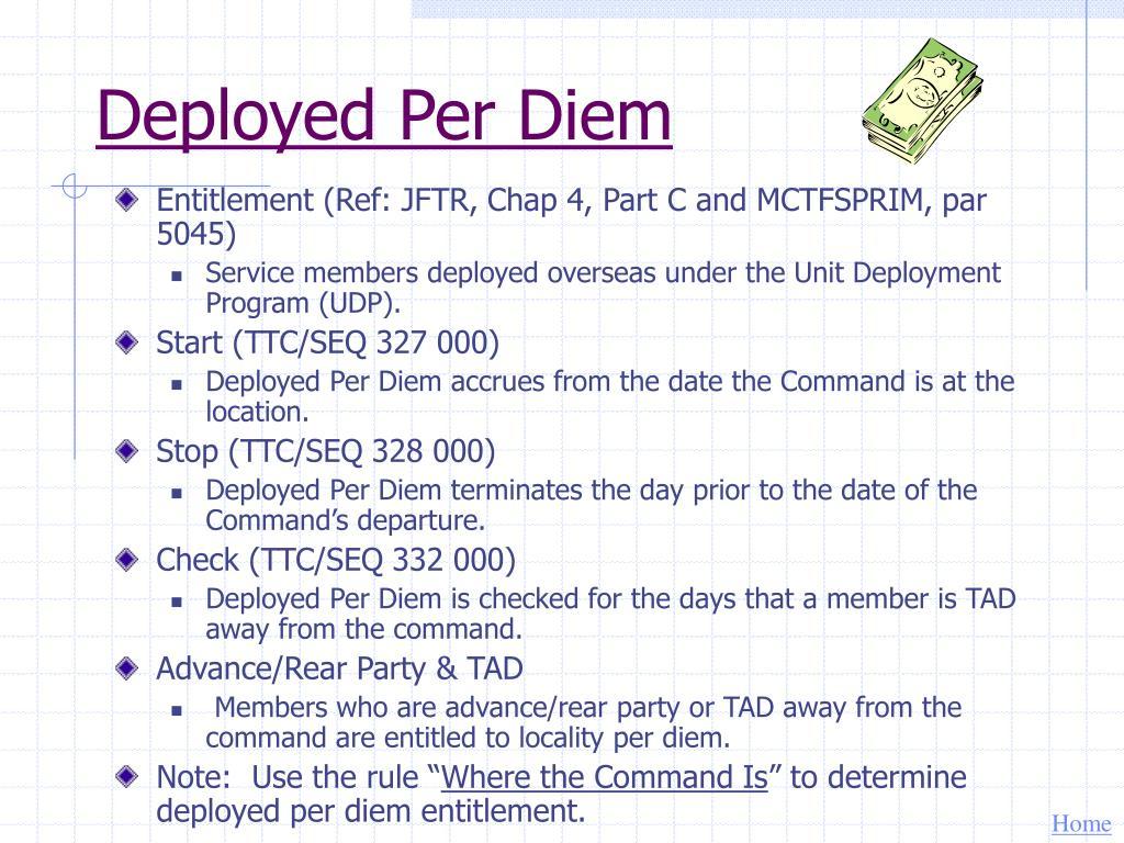 Deployed Per Diem