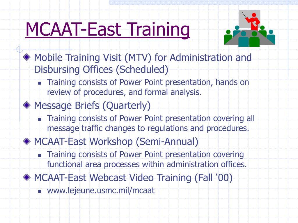 MCAAT-East Training