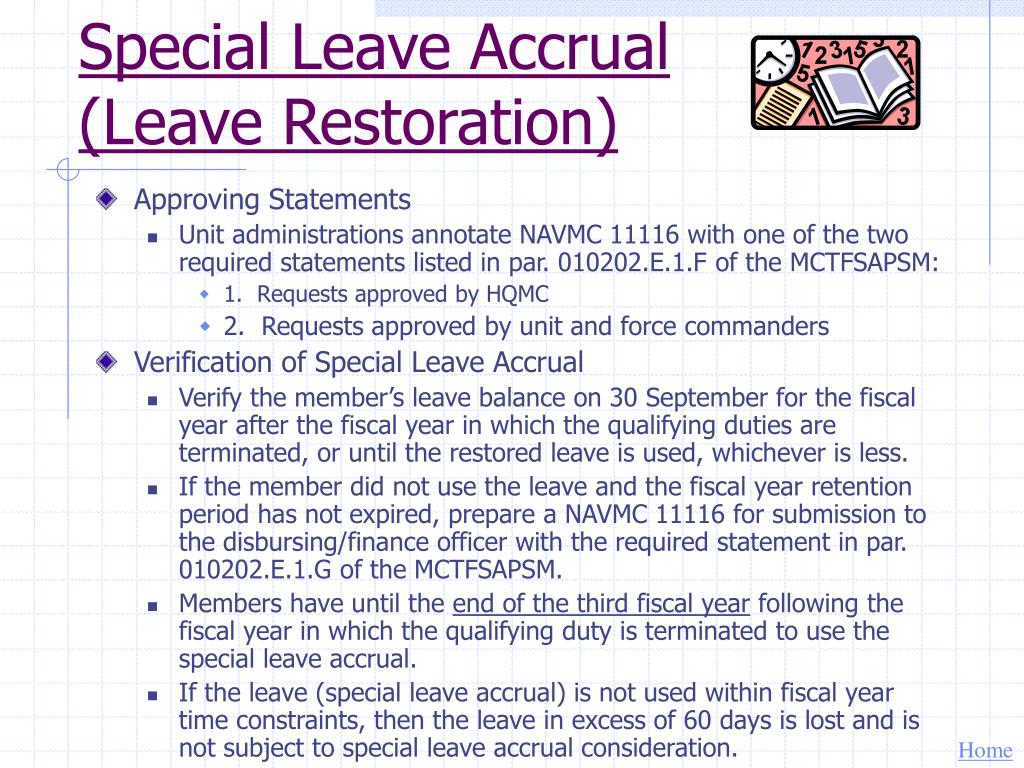 Special Leave Accrual