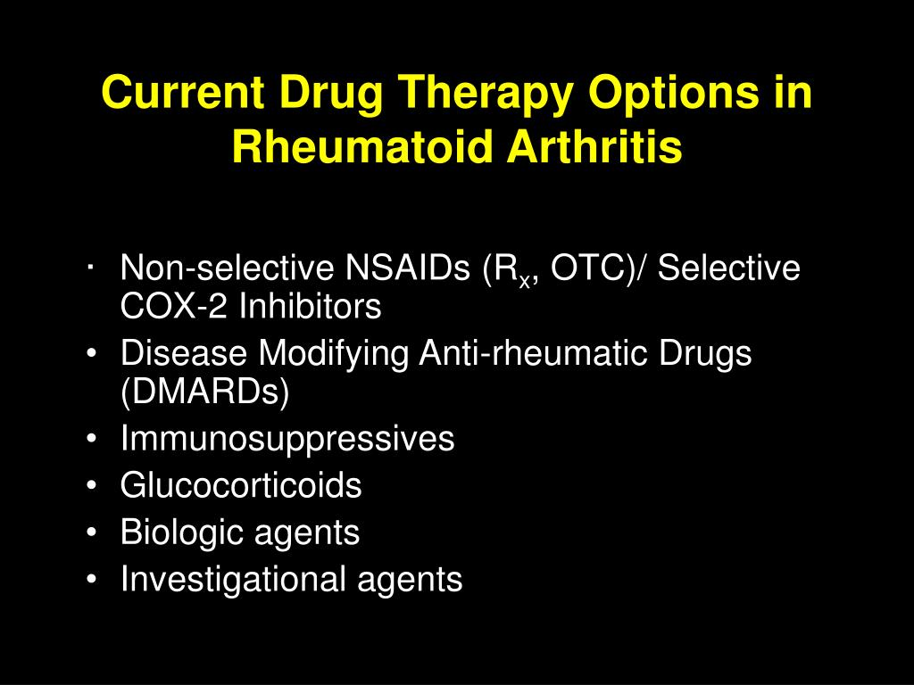 Current Drug Therapy Options in Rheumatoid Arthritis