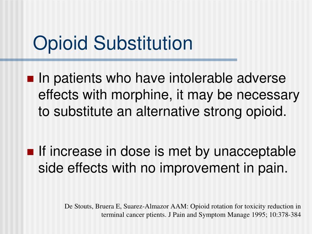 Opioid Substitution